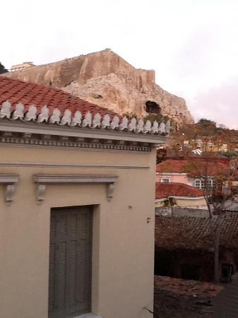 Byron Hotel: View of the Acropolis from my balcony.