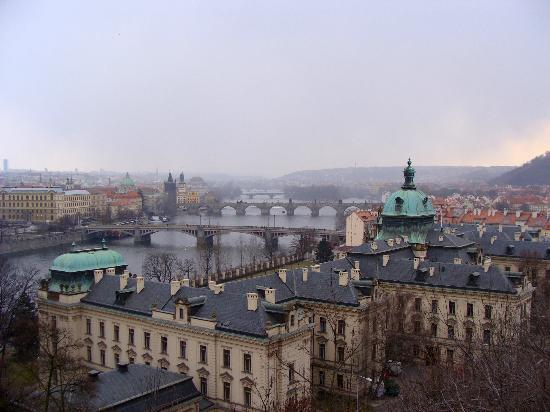 Letná Park : View of Wallenstein Palace from Letna Park