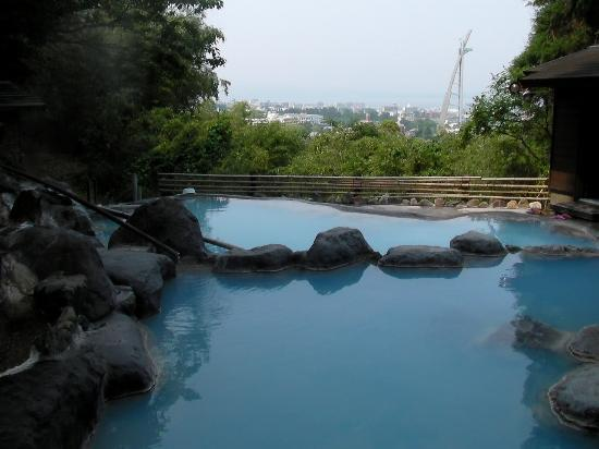 Beppu, Japão: 金鉱の湯からも別府市街が見渡せます