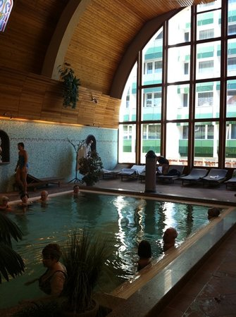 NaturMed Hotel Carbona: Healig water in the pools.