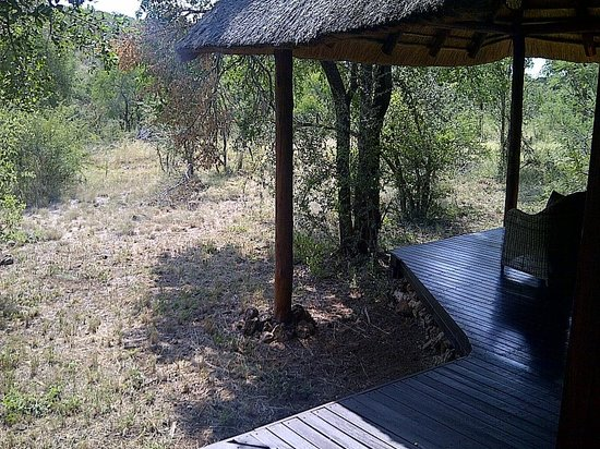 Impodimo Game Lodge: View from outdoor shower