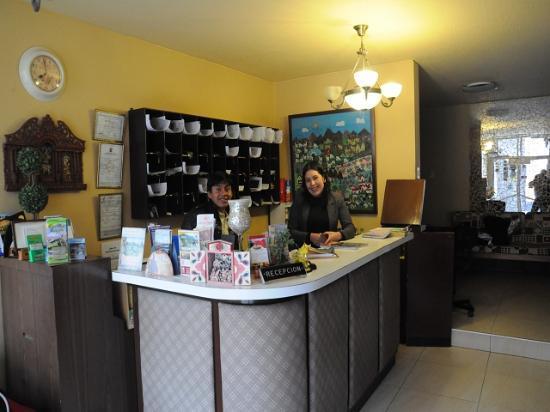 Hostal Arequipa Inn : Hotel Empfang
