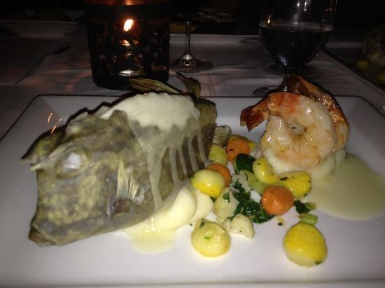 North Side, St. Thomas: Local 'shellfish' paired with shrimp - dining here is always an adventure!