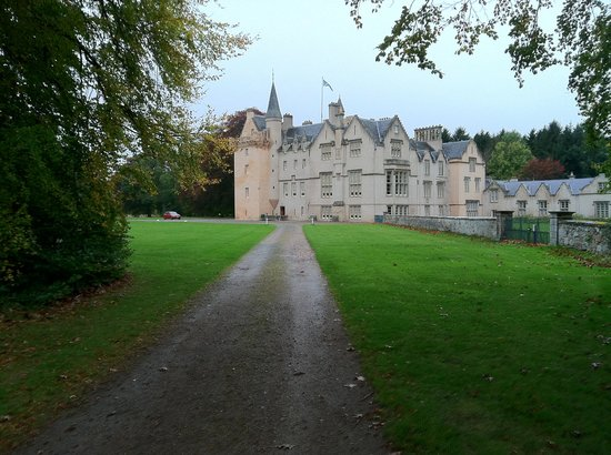 Brodie Castle from the entry road