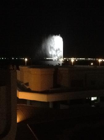 Fuente del Rey: der Brunnen bei Nacht