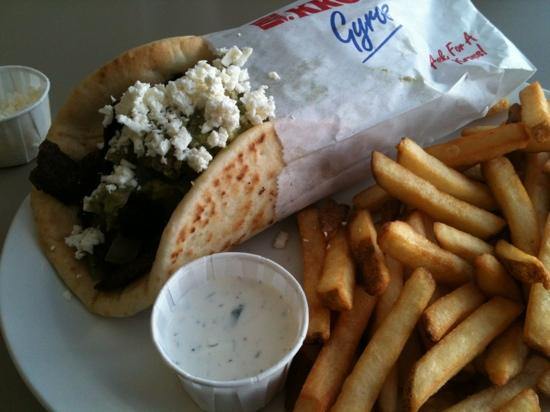 Melita's Greek Cafe and Market: gyro special with lamb