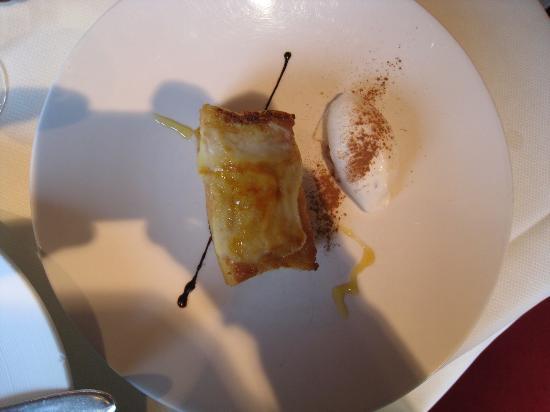Restaurante Aizian: Torrija con helado