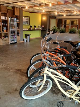 Adrift Hotel and Spa: Adrift Hotel lobby with bikes available for guests