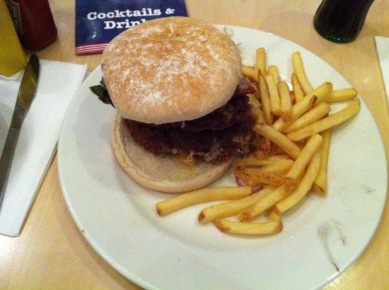 Exchange Bar & Grill: Husbands meal the