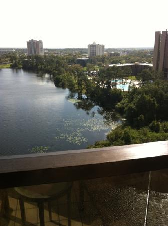 Hilton Orlando Buena Vista Palace Disney Springs: Lake view from hotel room