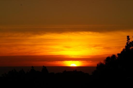 Very Beautiful Sunset at Lone Kauri Lodge