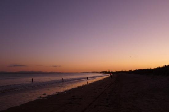 Tokerau Beach Motor Camp : Tokerau beach in the evening. There were loads of people fishing.
