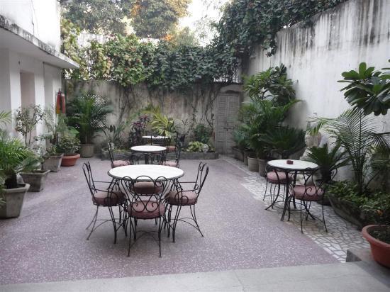 Yatri House: binnenplaats