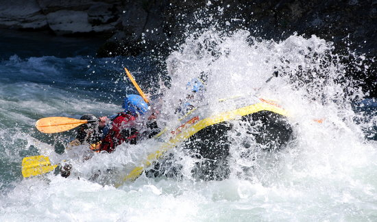Murillo de Gallego, สเปน: Rafting en verano
