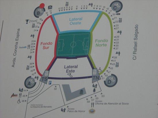 Plano estadio fotograf a de estadio santiago bernab u for Puerta 53 santiago bernabeu