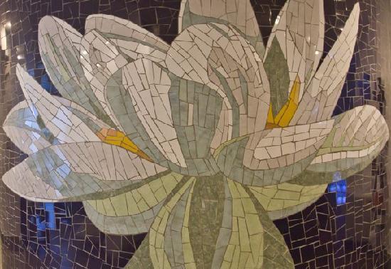 Mosaic tile mural at andari spa in cabarete picture of for Mural mosaic