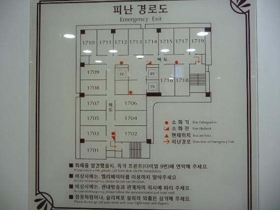 Toyoko Inn Busan No.1: 見取り図