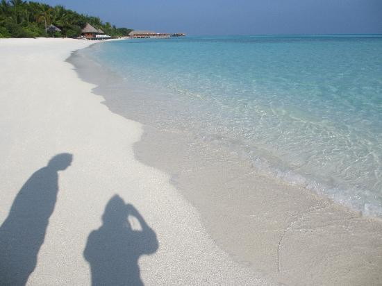 Conrad Maldives Rangali Island: Rangali island beach - sunrise side