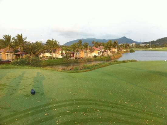 Yalong Bay Golf Club: nice view coconut tee marker