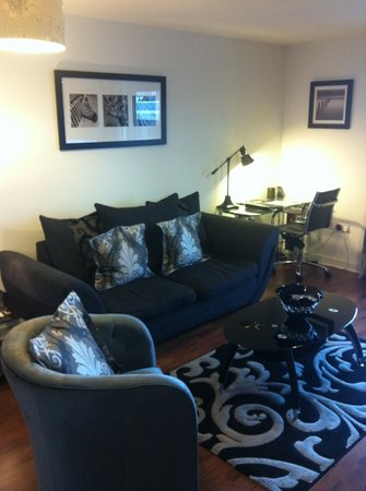 Oakhill Apartments: couch & desk space