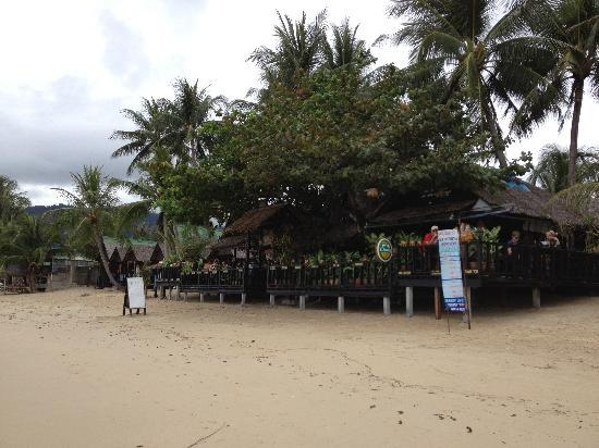 New Hut Cafe: View from the beach at day