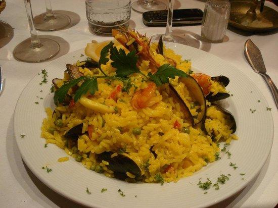 The Lobster House : paella aux fruits de mer, plat menu à 18€