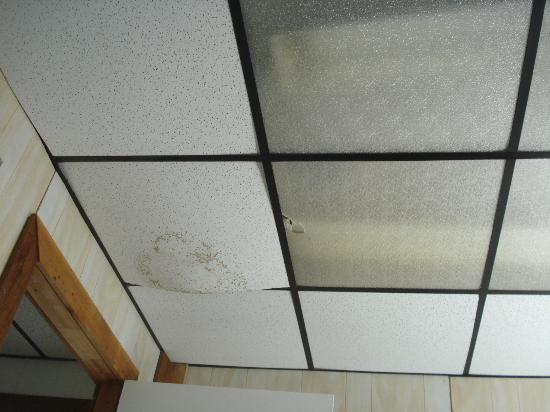 Key Largo House Boatel : another section of moldy falling down ceiling--this one you look at from your bed
