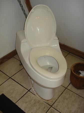 Key Largo House Boatel : toilet tilted and nearly fell off its floor moorings every time sat on it