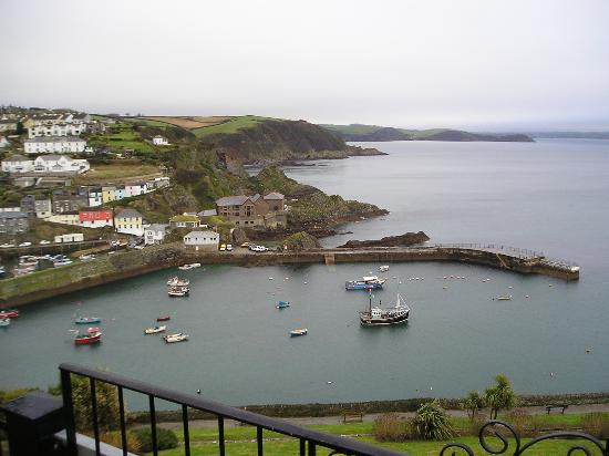 Honeycombe House: Mevagissey harbour and coastline from balcony