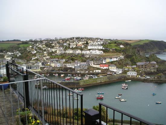 Honeycombe House: Harbour and village from balcony