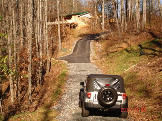 Cabins of Asheville: The driveway to the cabin...a bit steep!