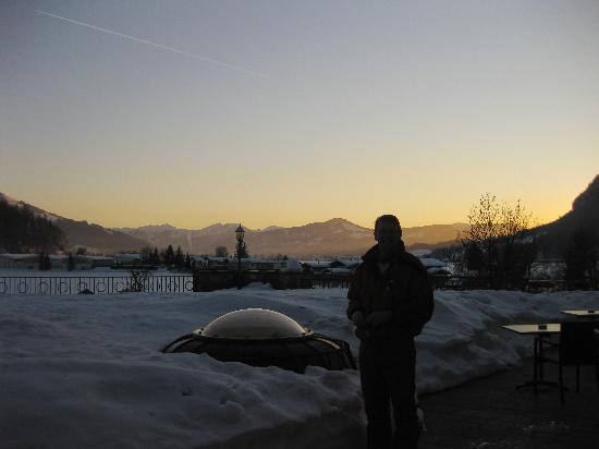 Das Seiwald Hotel: Sunset from the terrace