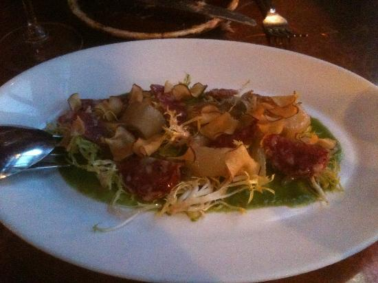 Park Kitchen : Salami salad, sunchokes and cardoons