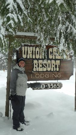 Union Creek Resort: Rustic sign