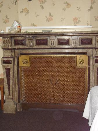 Hotel Rubenshof : old fireplace in bedroom--neat looking (wasn't for use)