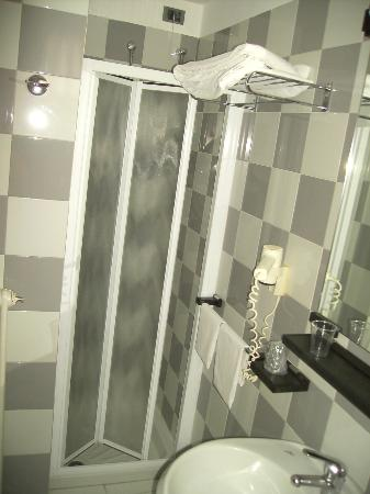 Holiday Hotel: Shower in Bathroom