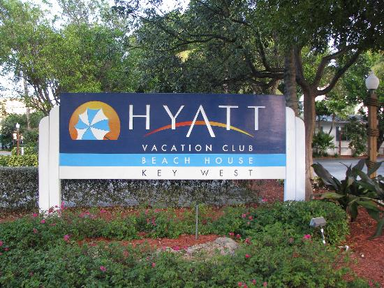 Hyatt Residence Club Key West, Beach House: Sign out front