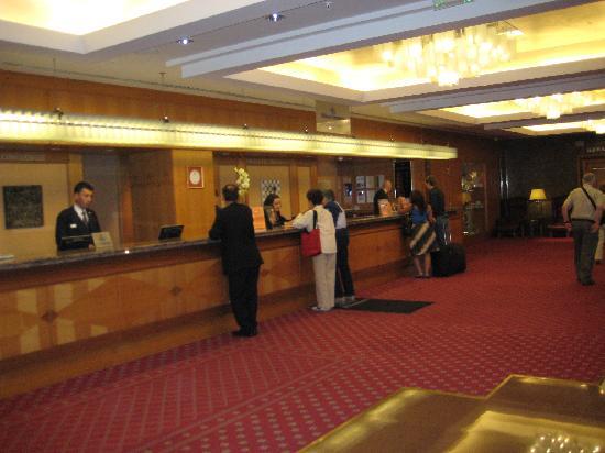 Lobby at Hilton Budapest