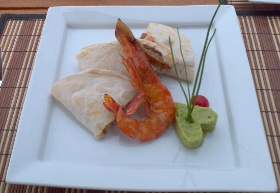 Hotel Cinco Sentidos: Shrimp Quesadillas