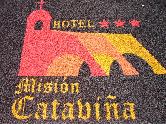 Hotel Mision Catavina: The new name is displayed on the map at the entrance.