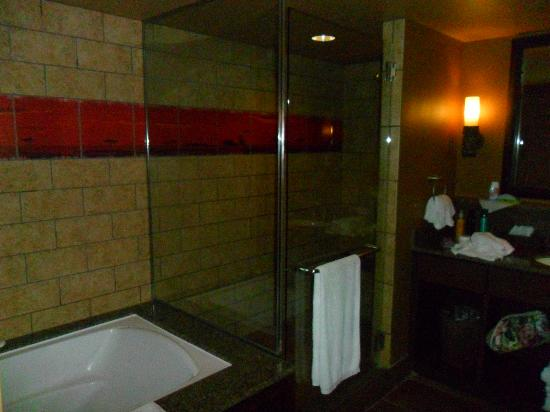 Disney's Animal Kingdom Villas - Kidani Village: king bathroom - very spa-like.  walk-in shower, giant tub