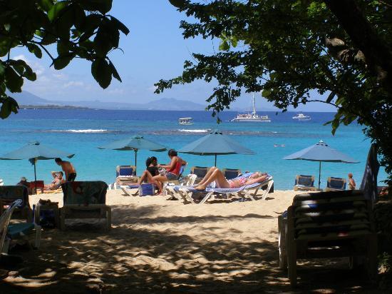 Tourists enjoy Sosua beach