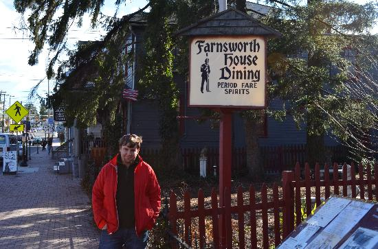 Farnsworth House Inn : My husband outside the Farnsworth