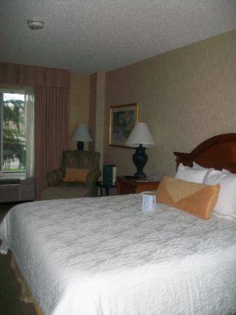 Hilton Garden Inn Portland/Lake Oswego: King bed with knob to adjust comfort settings