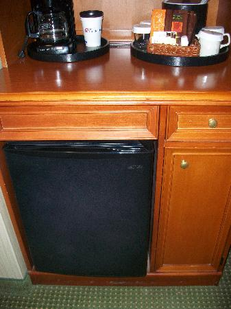 Hilton Garden Inn Portland/Lake Oswego : Nice and clean mini fridge - such a plus to have in your room.