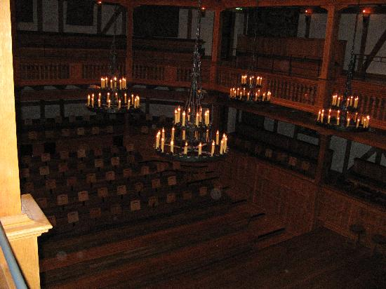 American Shakespeare Center: View from the balcony over the stage