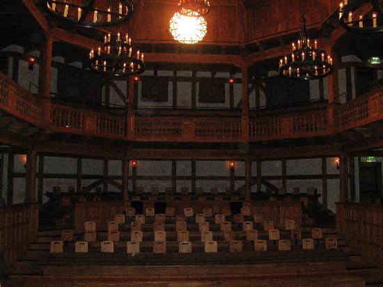 American Shakespeare Center: View from the stage with Rose window