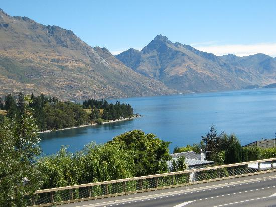 Pounamu Apartments: View from room