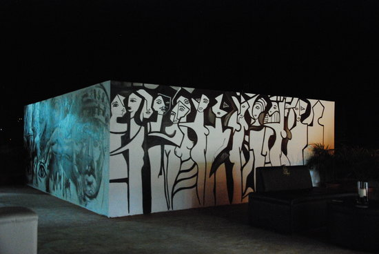 Hotel Real Camino Lenca: Mural artistico