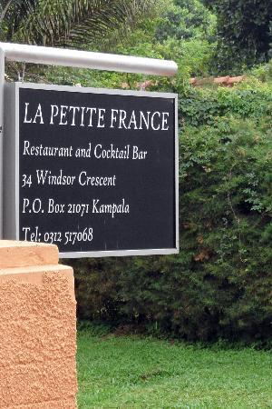 La Petite France Restaurant and Rooftop Terrace Bar : Look for this sign on Windsor Crescent